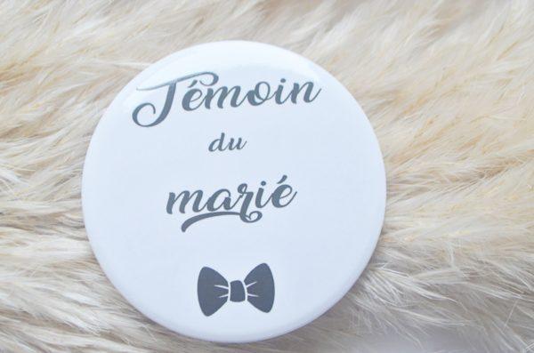 Badge témoin du marié