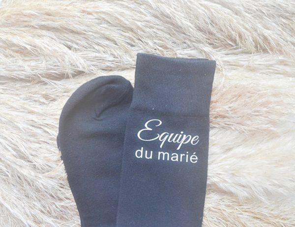 chaussettes personnalisées pour témoins