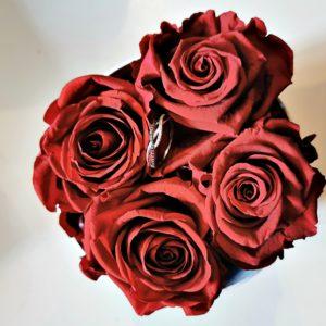 Boite de 6 roses éternelles