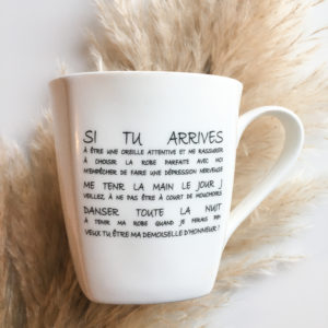 mug demoiselle d'honneur