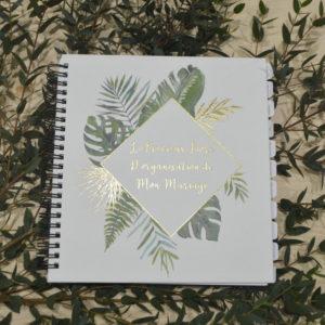 Livre organisateur de mariage nature